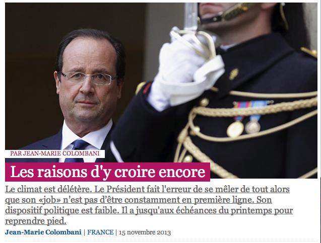 F Hollande, les raisons d'y croire...
