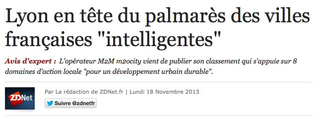 Lyon ville inteligente