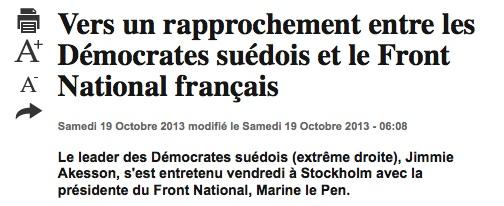 Marine Le Pen en Suède