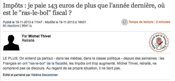 Matraquage fiscal