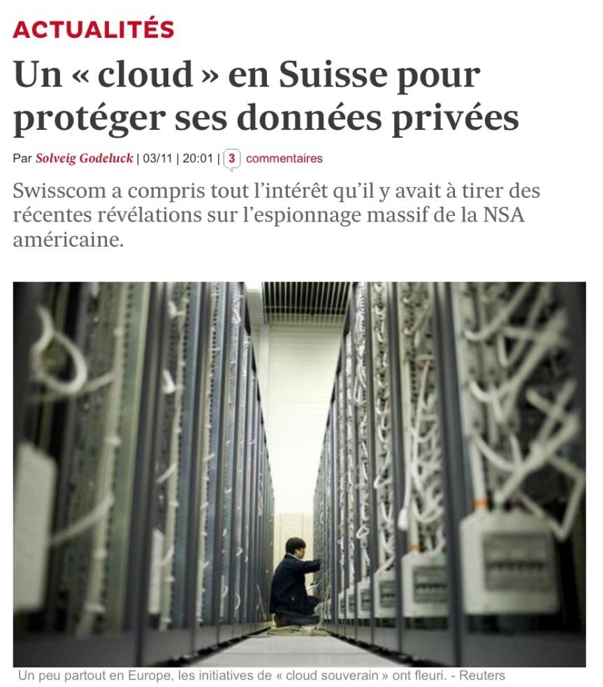 Ouvrir un compte cloud en suisse