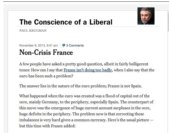 Paul Krigman No Crisis