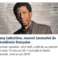 Dany Laferrière, un nègre à l'Academie française...