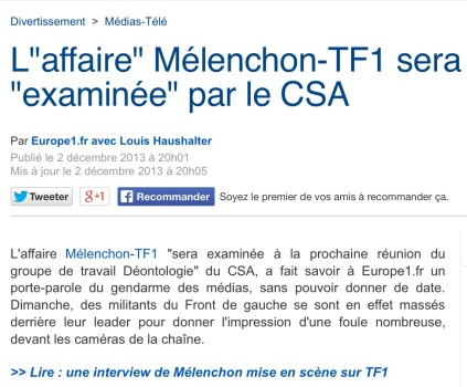 L'affaire Mélenchon