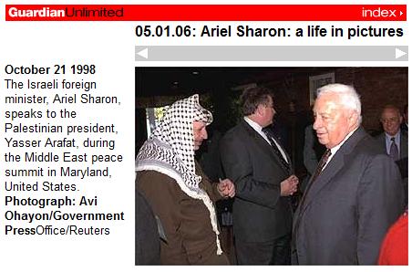 Ariel sharon Arafat