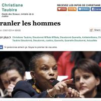 Quand C. Taubira «ébranle» Dieudonné et Manuel Valls...
