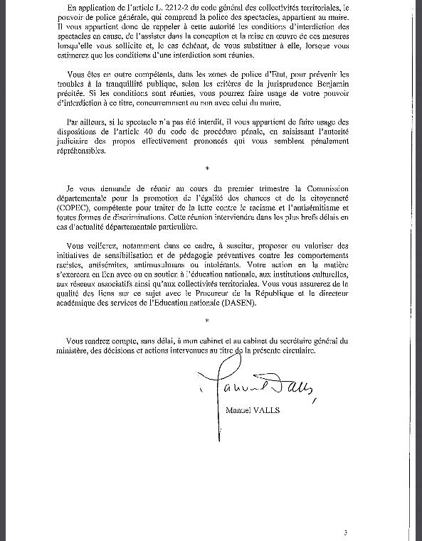 Circulaire Dieudonné Valls Prefets 3
