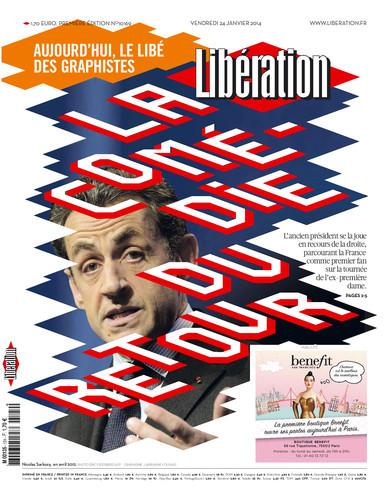 LIbération Sarkozy comédie retour