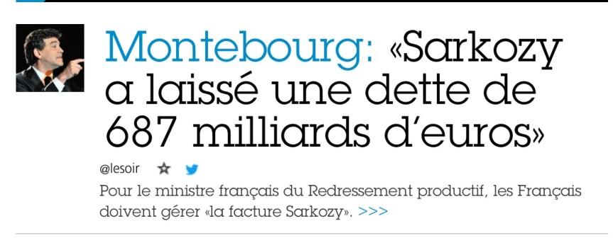 Arnaud Montebourg Dette Sarkozy