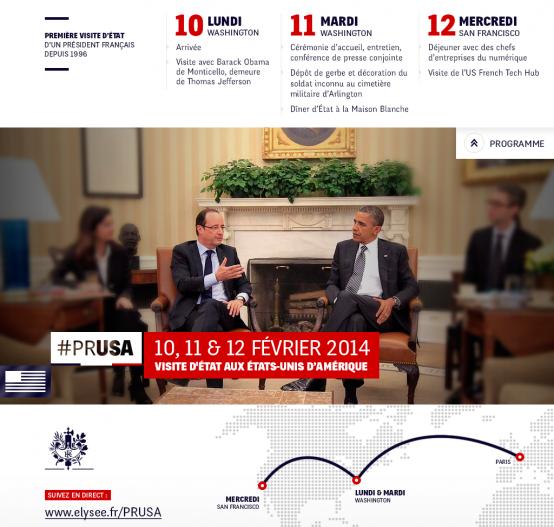 Visite d'Etat de Hollande aux USA Fév 2014
