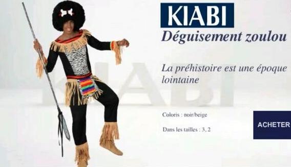 RAcisme Kiabi Zoulou homme
