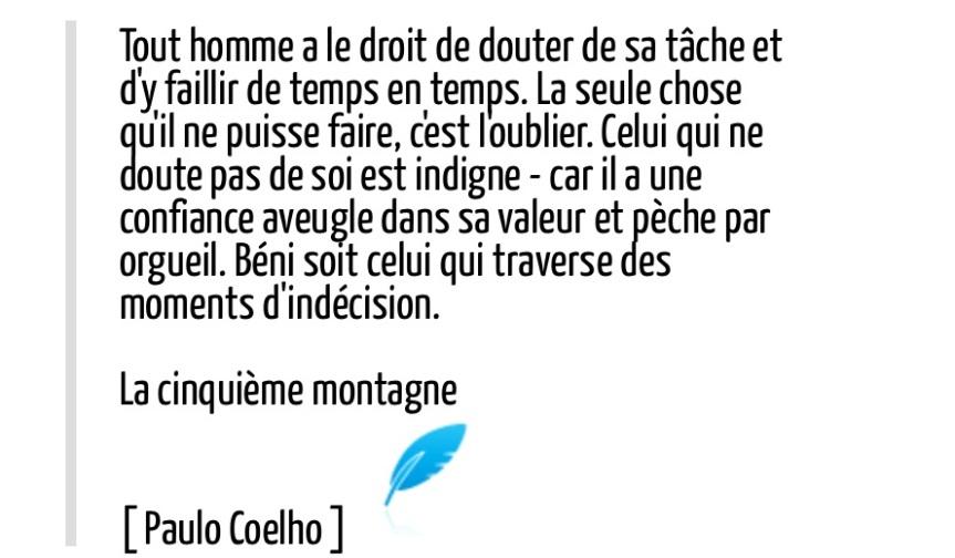 Coelho, PMA, Cinquiéme montage