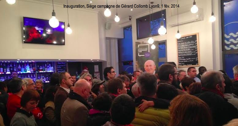 Inauguration Gérard Collomb Lyon 9