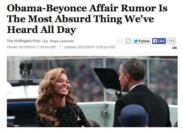 Obama Beyoncé Huffpost USA
