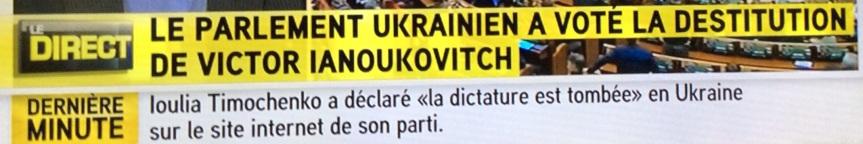 Ukraine, destitution du Président