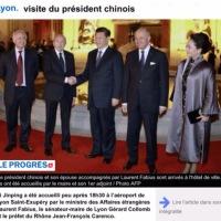 Quand Gérard Collomb reçoit le président chinois à Lyon (photo officielle) #Lyon2014