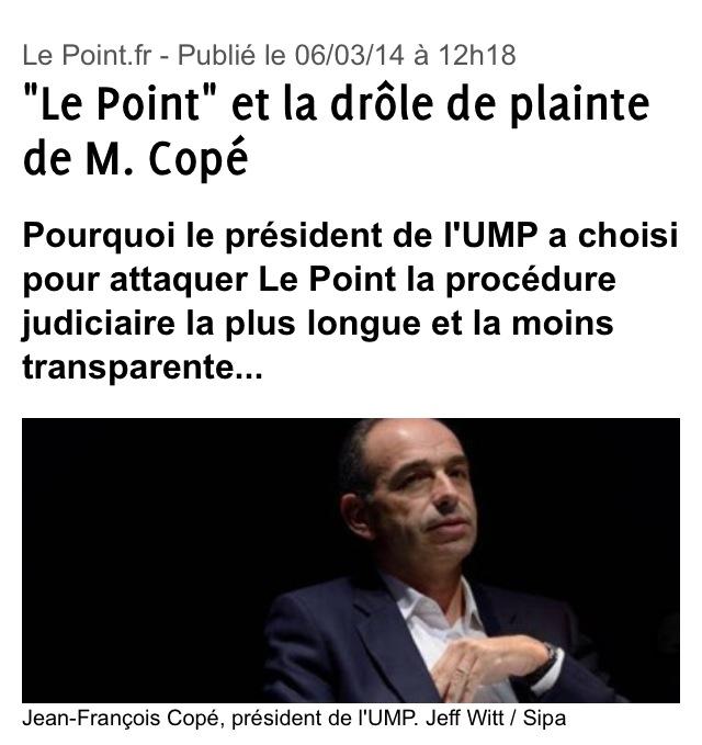 Plainte de Copé