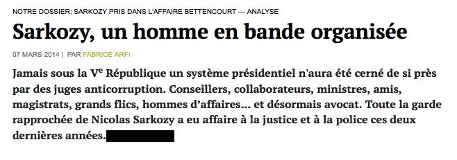 Sarkozy bande organisée