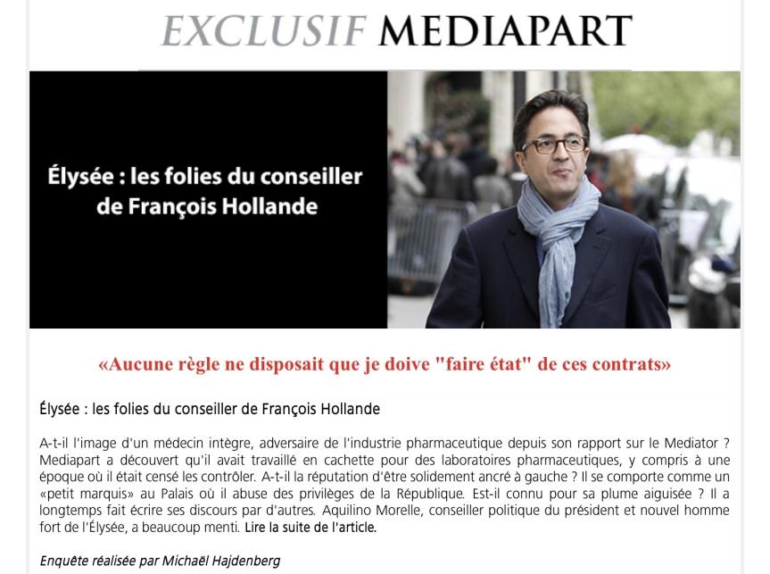 Aquilino Morelle Mediapart