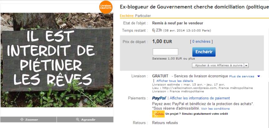Blogueur de gouvernement en vente ebay