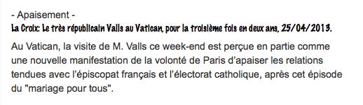 La Coix Valls au Vatican