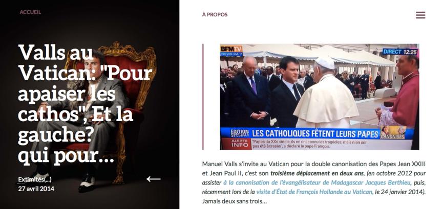 Manuel VAlls au Vatican