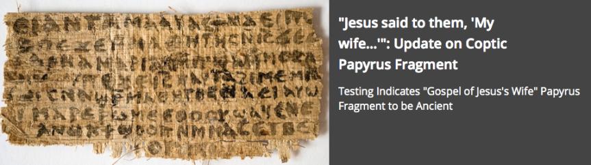 Papyrus Jesus Wife Femme