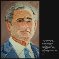 La tronche de Sarkozy by George W Bush Jr, artiste peintre...