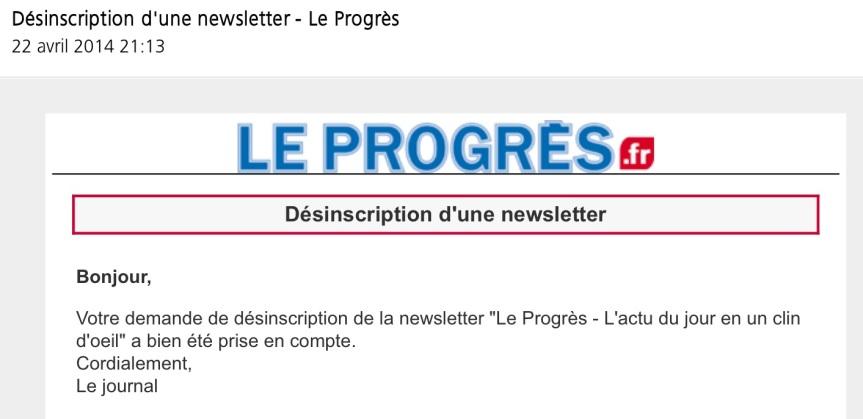 Se désinscrire Le Progrès de Lyon