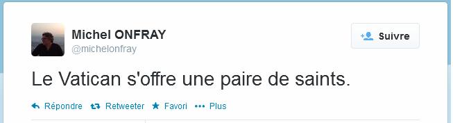 Tweet Michel Onfray