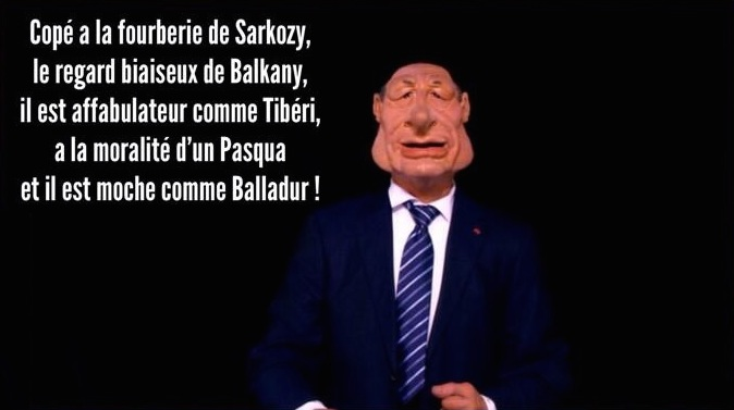 Chirac Copé Canl Guignols