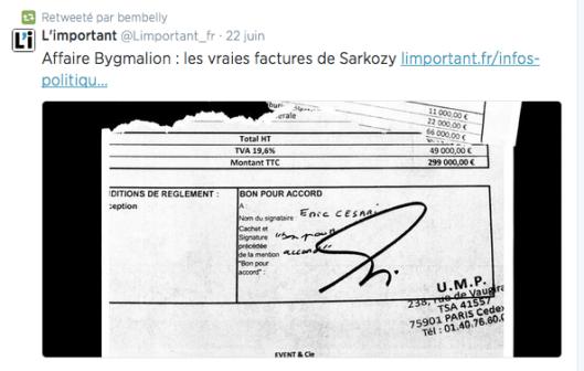 Facture Sarkozy