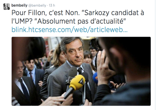Fillon Non sur le retour de Sarkozy