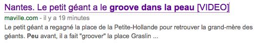 Groove dans la peau
