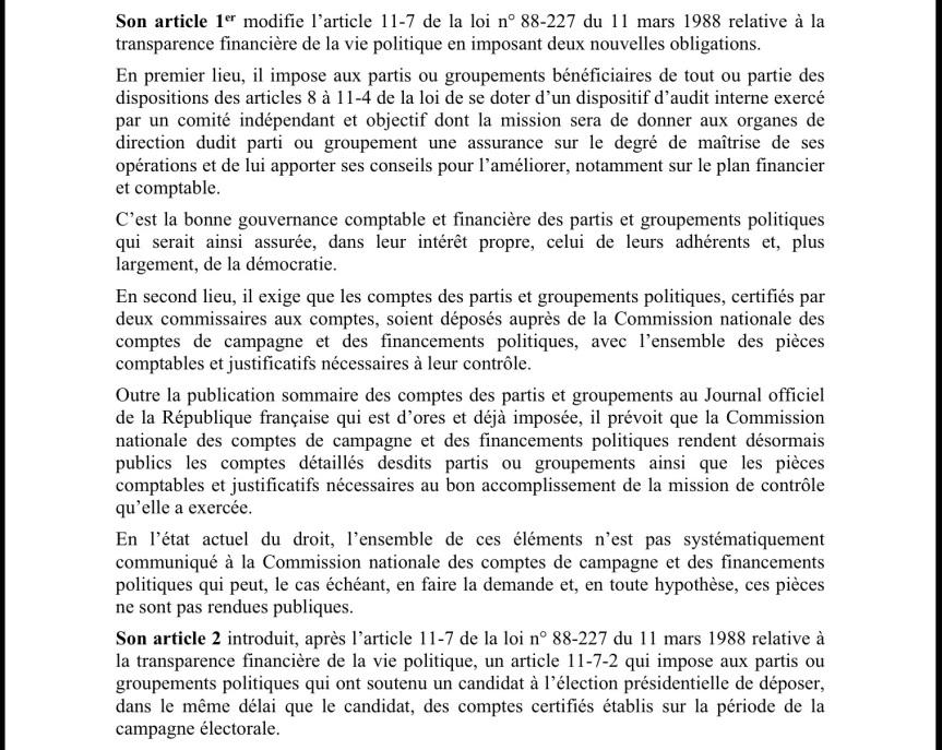 Projet loi Copé 2