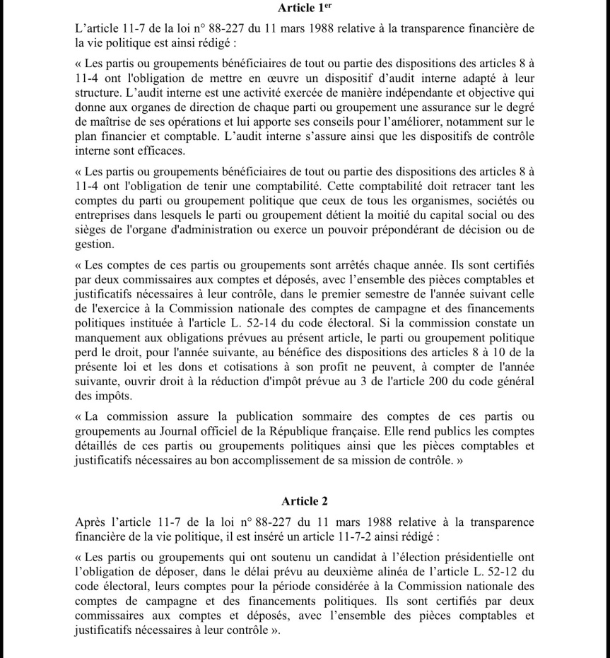 Projet loi Copé 3