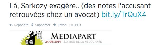 Sarkozy Médiapart notes avocats