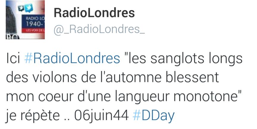 RadioLondres Vers Verlaine