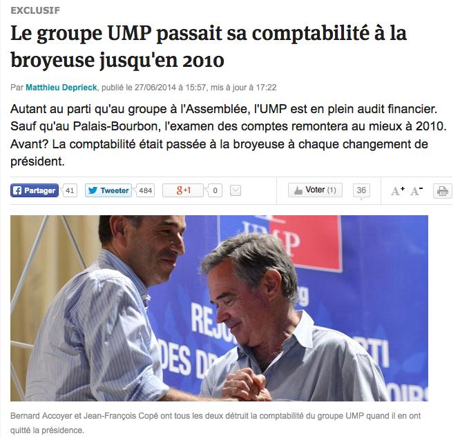 UMP Broyeuse comptabilité
