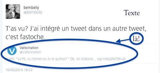 Un tweet dans un tweet