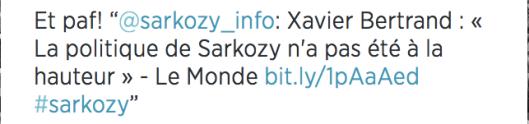 Xavier Bertrand Sarkozy pas à la Hauteur