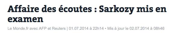 Le Monde Sarkozy Mise en examen