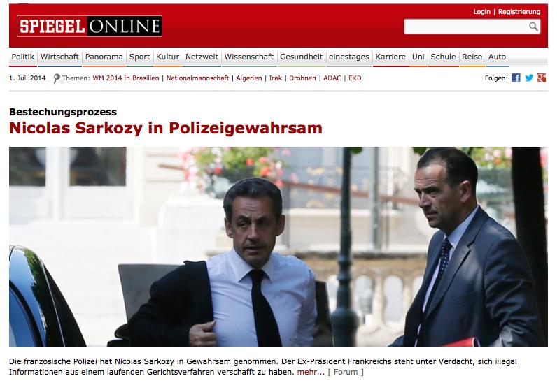 Spiegeel Sarkozy