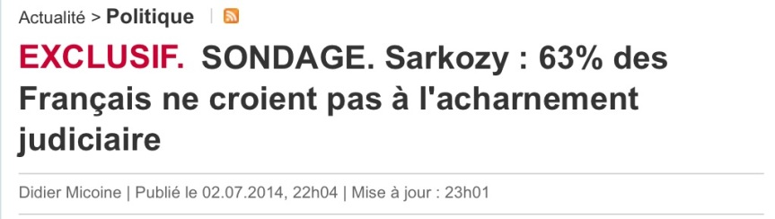 Sarkozy Les français ne croit pas au complot
