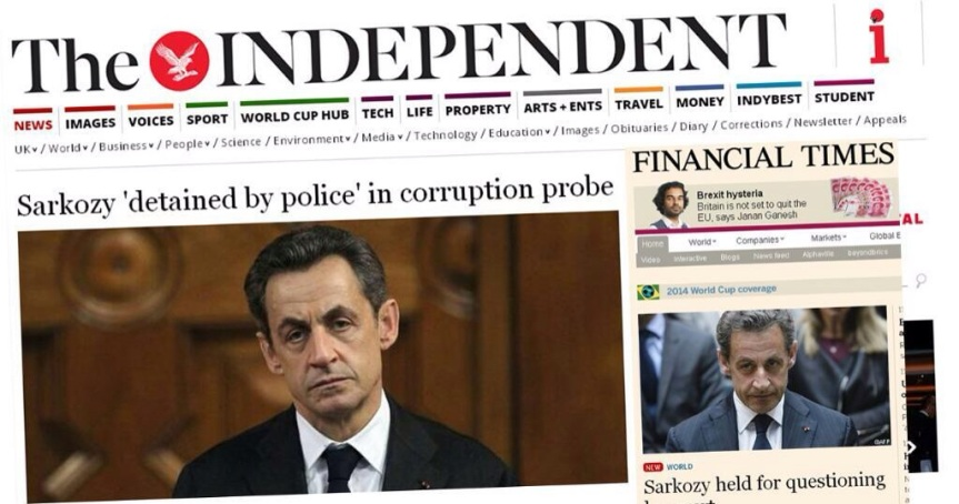 Sarkozy The independant Mise en examen