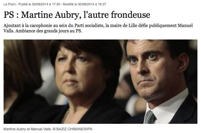 Martine Aubry Valls Fronde