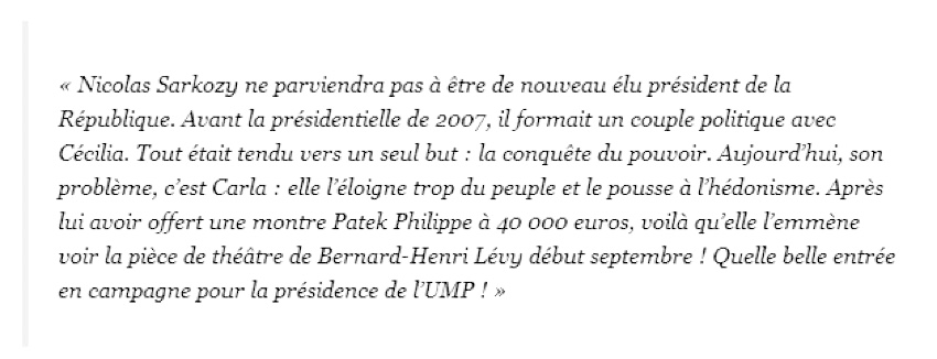 Patrick buisson Sarkozy extrait