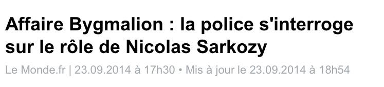 Bygmalion, la police s'interroge sur Sarkozy