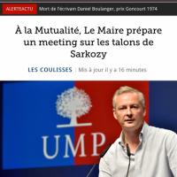 """Quand le Figaro titre sur """"les talons de Sarkozy""""..."""