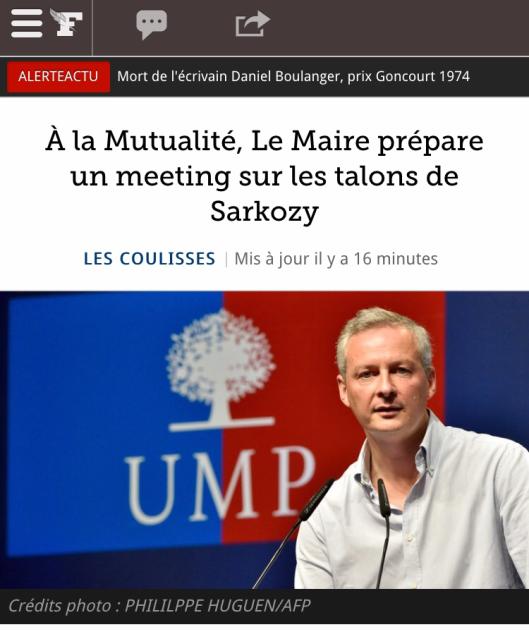 Le MAire Sarkozy talons Figaro